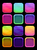 Funny bright colorful ui elements Stock Photo