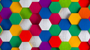 Funny Bright Hexagon Background Royalty Free Stock Photos