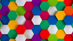 Funny Bright Hexagon Background Royalty Free Stock Photos