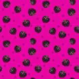 Funny bright seamless pattern with blackberries Stock Photo