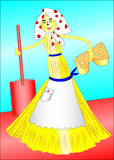 Funny broom Royalty Free Stock Photo