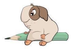 Funny brown guinea pig cartoon Stock Photography