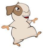 Funny brown guinea pig cartoon Stock Image