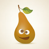 Funny brown pear Stock Images