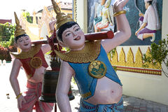 Funny Buddhist Temple Statues Royalty Free Stock Photo
