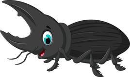 Funny bug Hercules cartoon. Illustration of funny bug Hercules cartoon Stock Images