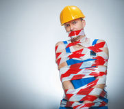Funny builder - manual worker Stock Photography