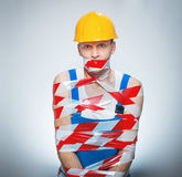 Funny builder - manual worker Stock Image