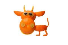 Funny bull made of orange Stock Image