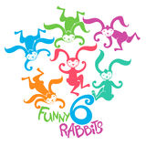Funny bunnies. Stock Images