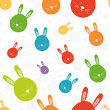 Funny bunny colorful seamless pattern Royalty Free Stock Photography