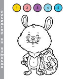 Funny bunny coloring game. Royalty Free Stock Images