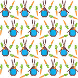 Funny bunny on the factory texture Royalty Free Stock Image