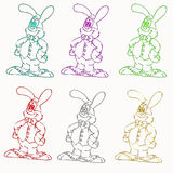 Funny bunny illustration Stock Photography