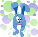 Funny bunny illustration Royalty Free Stock Photo