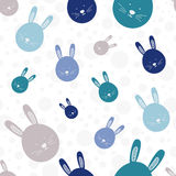 Funny bunny seamless pattern Royalty Free Stock Photos