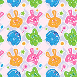Funny bunny seamless wallpaper Royalty Free Stock Photo
