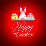 Funny buny and chick easter card Royalty Free Stock Photos