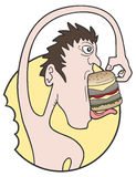 Funny burger Stock Images
