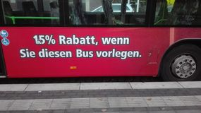 Funny bus Stock Photography