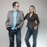 Funny business couple Royalty Free Stock Photography