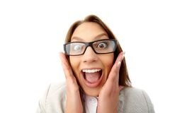 Funny business lady Royalty Free Stock Images