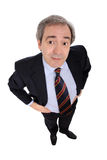 Funny business man portrait Royalty Free Stock Photos
