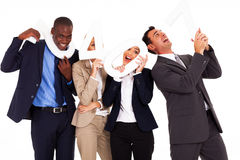 Funny business numbers Stock Photography