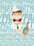 Funny business party man Stock Photo
