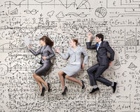 Funny business people Stock Image