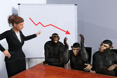 Funny Business Sales Marketing Meeting Stock Image