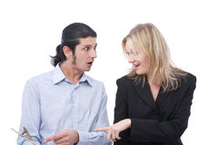 Funny business team Stock Image