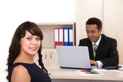 Funny business team Stock Images
