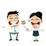 Funny business team with house and key Royalty Free Stock Photo