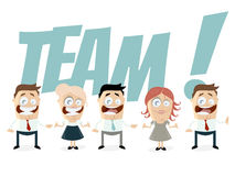 Funny business team Stock Photography