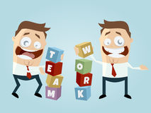 Funny business teamwork. Funny illustration of business teamwork Royalty Free Stock Images