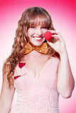 Funny Business Woman Clowning Around Royalty Free Stock Photography