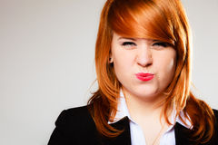 Funny business woman face Royalty Free Stock Photos
