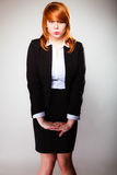 Funny business woman face Stock Images