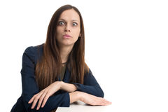 Funny business woman Stock Images