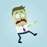 Funny business zombie man Stock Photos
