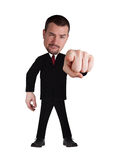 Funny businessman. Pointing at you Royalty Free Stock Images