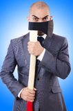 Funny businessman with axe Royalty Free Stock Photography