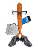 Funny businessman boss tie character cartoon Stock Photo