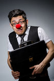 Funny businessman with clown Royalty Free Stock Photography