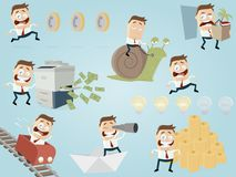 Funny businessman collection vector illustration