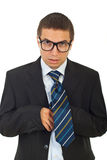 Funny businessman with eyeglasses Stock Images