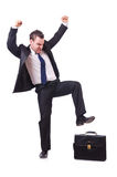 Funny businessman Stock Image