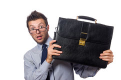 Funny businessman isolated Royalty Free Stock Photos