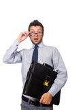 Funny businessman isolated Stock Photography